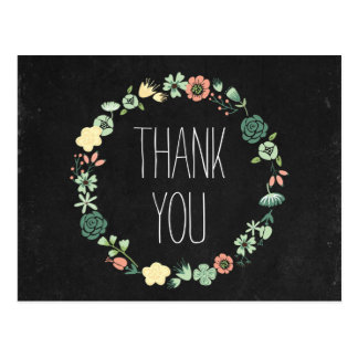 Chalkboard Style Thank You Card Post Cards