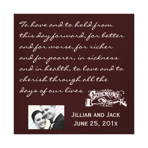 Z Gallerie Wedding Gifts : Chalkboard Style WEDDING Gift Gallery Wrap Canvas Zazzle