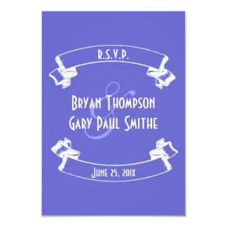 Chalkboard Style Wedding RSVP Announcement