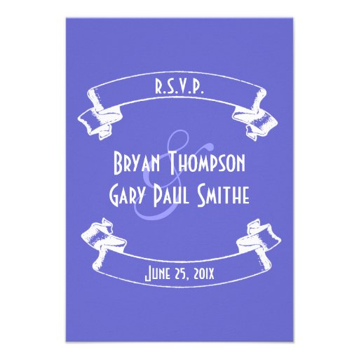 Chalkboard Style Wedding RSVP Announcement