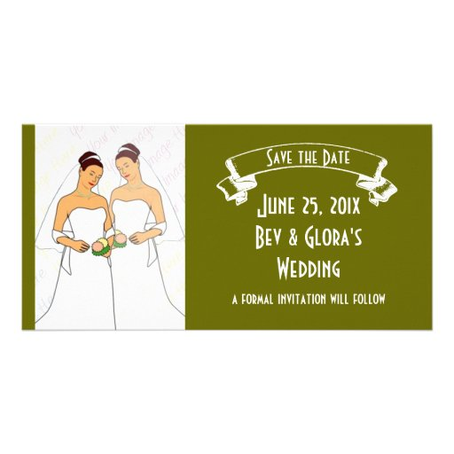 Chalkboard Style WEDDING Save The Date Picture Card