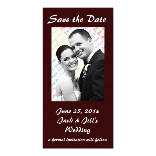 Chalkboard Style WEDDING Save The Date Personalized Photo Card