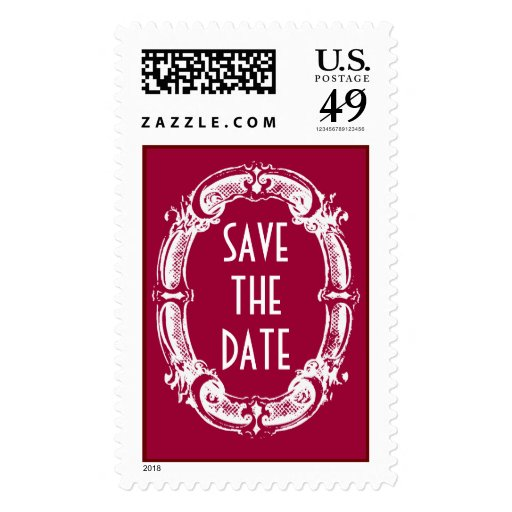 Chalkboard Style WEDDING Save The Date Postage
