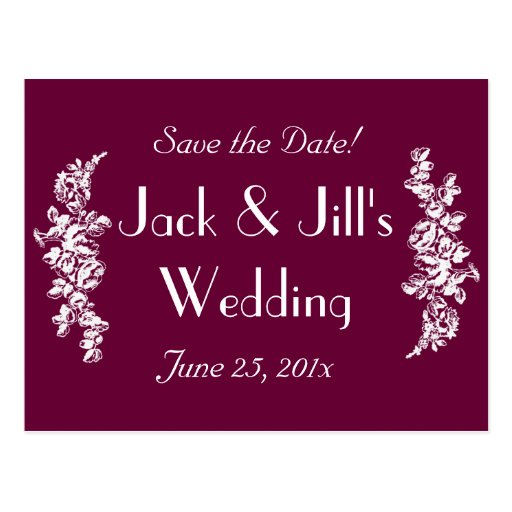 Chalkboard Style WEDDING Save The Date Postcards