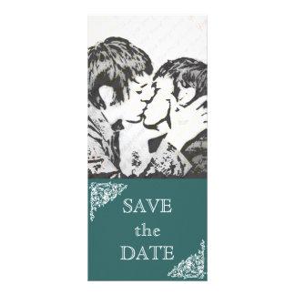 Chalkboard Style WEDDING Save The Date Rack Card