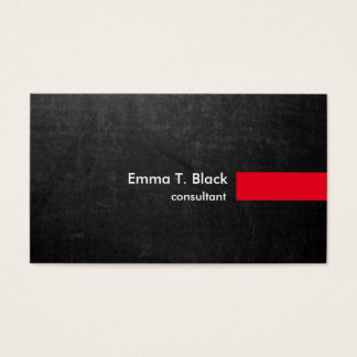 Chalkboard Stylish Modern Professional Consultant Business Card