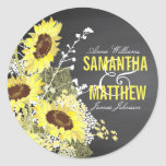 "Chalkboard Sunflower Rustic Wedding Gift Label<br><div class=""desc"">Chalkboard and sunflower bouquet rustic wedding gift label.</div>"
