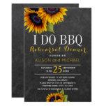 Chalkboard sunflowers i do bbq rehearsal dinner invitation