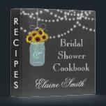 """Chalkboard Sunflowers in Mason Jar Recipe Folder<br><div class=""""desc"""">Chalkboard Sunflowers in a Mason Jar Bridal shower Recipe Folder</div>"""