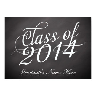 Chalkboard Swirl Class of 2014 Card