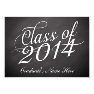 Chalkboard Swirl Class of 2014 5x7 Paper Invitation Card