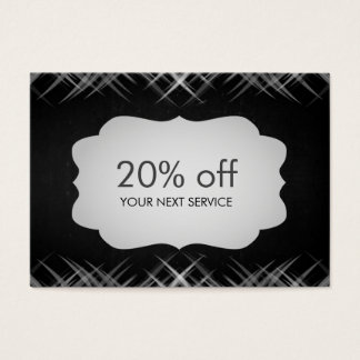 Chalkboard Swirl Coupon Card Voucher Discount