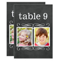 Chalkboard Table Numbers | Bride   Groom Photo