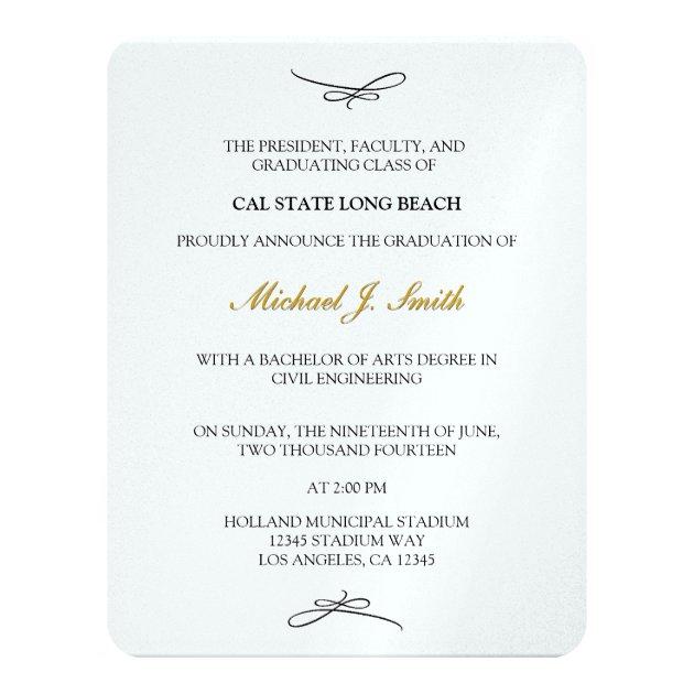 Chalkboard & Tassel Class of 2016 Graduation 4.25x5.5 Paper Invitation Card (back side)