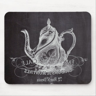 Chalkboard teapot Alice in Wonderland tea party Mouse Pad