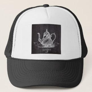 Chalkboard teapot Alice in Wonderland tea party Trucker Hat
