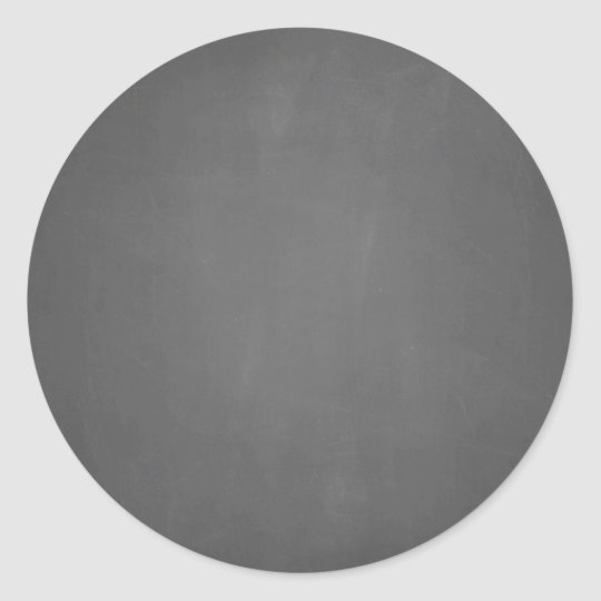 chalkboard template blank classic round sticker zazzle com