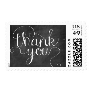 Chalkboard Thank You Calligraphy Stamp