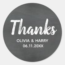 Chalkboard Thank You Classic Round Sticker