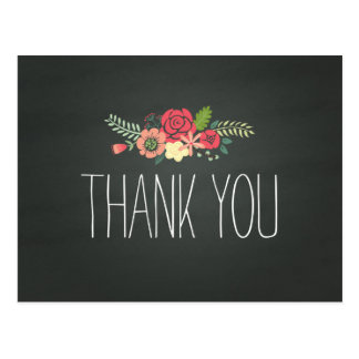 Chalkboard Thank You Post Card