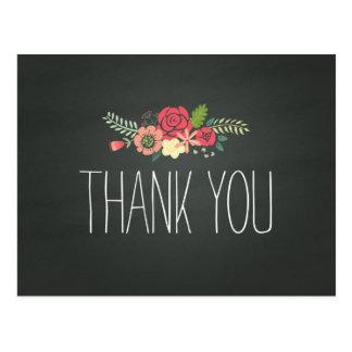 Chalkboard Thank You Post Card