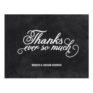 Chalkboard Thank You Postcard