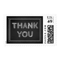 Chalkboard Thank You Wedding Stamps