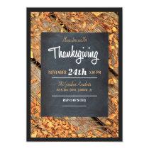 Chalkboard Thanksgiving Invitation