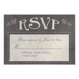 Chalkboard theme RSVP Card Announcements