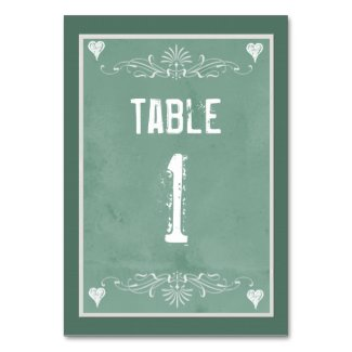 Chalkboard Theme Table number cards