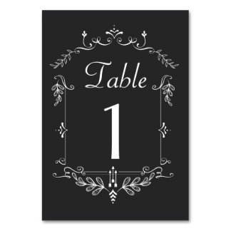 Chalkboard Theme Table number cards Table Cards