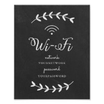 Chalkboard themed Wifi Sign
