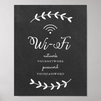 Chalkboard themed Wifi Sign
