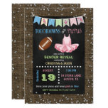 Chalkboard Touchdowns or Tutus Gender Reveal Card