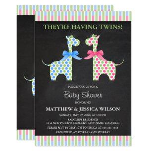 Twin Boys Baby Shower Invitations Zazzle