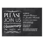 Chalkboard Typography | Anniversary Party Invite