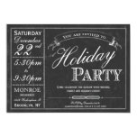 "Chalkboard Typography Holiday Party Invitation 5"" X 7"" Invitation Card"