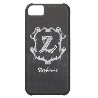 Chalkboard Typography Monogrammed Initial Z iPhone 5C Cover
