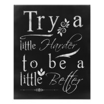Chalkboard Typography Motivational Print