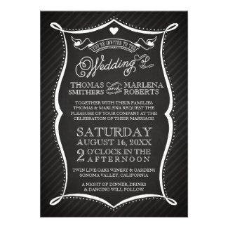 Chalkboard Typography Wedding Invitation