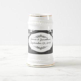 Chalkboard Typography Weddings Beer Stein