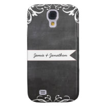 Chalkboard Typography Weddings Galaxy S4 Cover