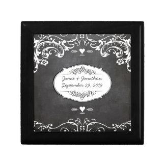 Chalkboard Typography Weddings Gift Box