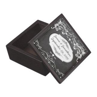 Chalkboard Typography Weddings Keepsake Box