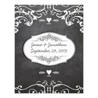 Chalkboard Typography Weddings Letterhead