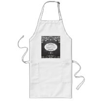 Chalkboard Typography Weddings Long Apron