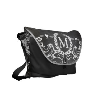 Chalkboard Typography Weddings Courier Bags