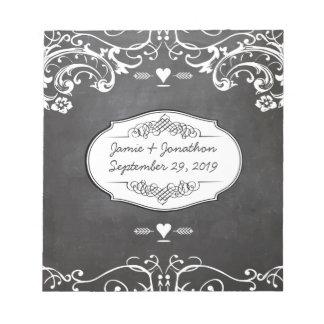 Chalkboard Typography Weddings Note Pad