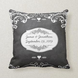 Chalkboard Typography Weddings Pillows