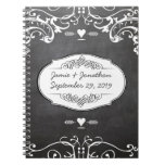 Chalkboard Typography Weddings Spiral Note Book